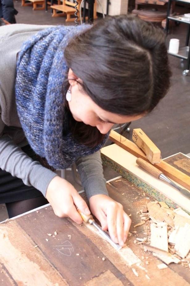 restauration peinture sur panneau de bois